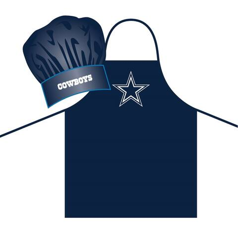 Dallas Cowboys Apron and Chef Hat Set Alternate
