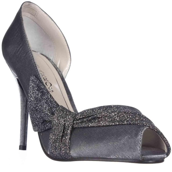 Caparros Octavia D'Orsay Peep Toe Dress Heels, Gunmetal Shimmer
