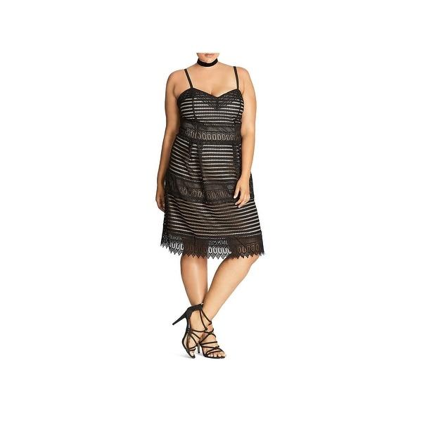 Shop City Chic Womens Plus Semi Formal Dress Knee Length