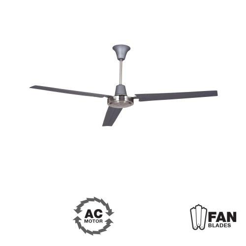 "Ellington Fans Utility Modern 56"" 3 Blade Indoor Ceiling Fan - Blades Included"