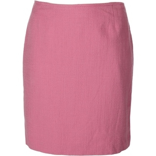 Tahari ASL Womens Jim Textured Knee Length Pencil Skirt