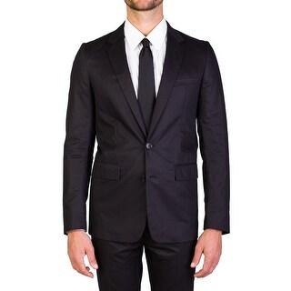 Dior Homme Men's Cotton Two-Button Suit Smoke Black
