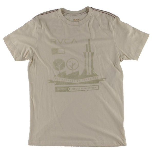 ac2bdc3736 Shop RVCA Mens T-Shirt Solid Short Sleeves - M - Free Shipping On Orders  Over $45 - Overstock - 19436963