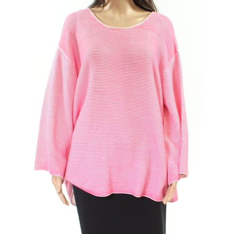 Foxcroft Womens Sweater Deep Pink Size 2X Plus Pullover Scoop Neck