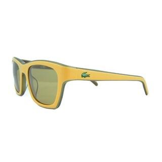 Lacoste L 645S 211 Yellow/Khaki Wayfarer Sunglasses