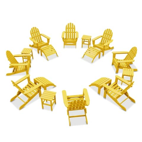 Nelson 8-piece Adirondack Chair Set with 4 Ottomans and 4 Side Tables by Havenside Home