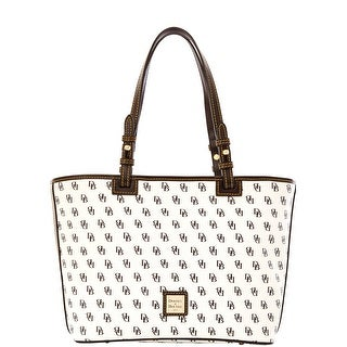 Dooney & Bourke Gretta Small Leisure Shopper (Introduced by Dooney & Bourke at $198 in Oct 2014) - White Black
