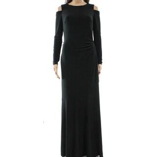 Lauren Ralph Lauren NEW Black Womens 4 Cold-Shoulder Jersey Maxi Dress