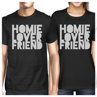Homie Lover Friend Black Matching Couple T-Shirts Gift For Husbands