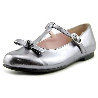 Nina Jami Youth Round Toe Synthetic Silver Mary Janes