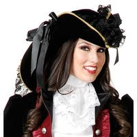 Velvet Pirate Hat Adult Costume Accessory - Gold