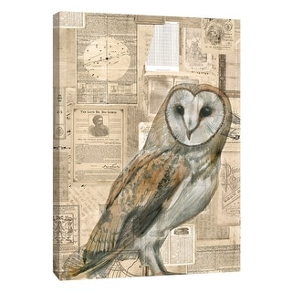 "PTM Images 9-105401  PTM Canvas Collection 10"" x 8"" - ""Academic Owl Illustration"" Giclee Owls Art Print on Canvas"