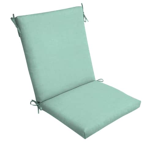 Arden Selections Aqua Leala Texture Outdoor Chair Cushion - 44 in L x 20 in W x 3.5 in H