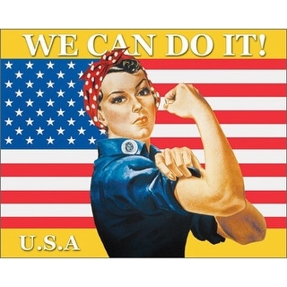 ''We Can Do It (Rosie the Riveter)'' by J. Howard Miller Military Art Print (16 x 20 in.)