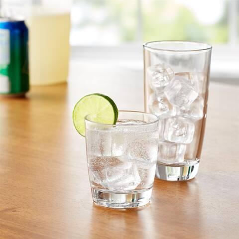 16-Piece Drinkware Glass Set-Dishwasher safe