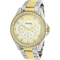 Fossil Women's Riley  Silver Stainless-Steel Quartz Fashion Watch