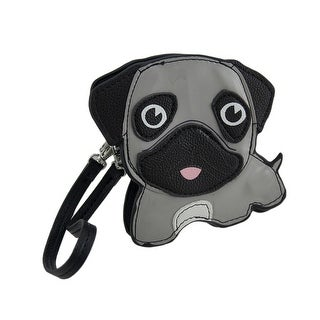 Sleepyville Critters Grey Pug Puppy Small Wristlet Coin Purse