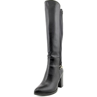 Luichiny Local Legend Women Pointed Toe Synthetic Black Knee High Boot