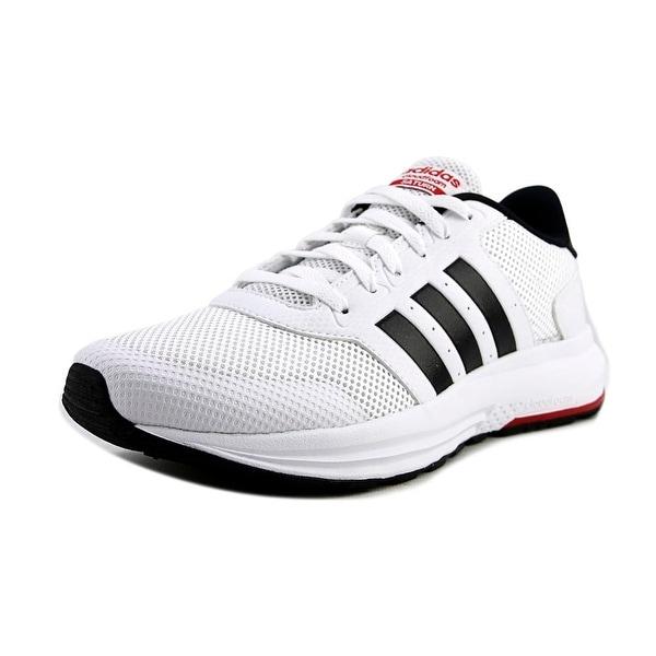 62a56cd850b Shop Adidas Cloudfoam Saturn Men Ftwwht Cblack Scarleew Running ...