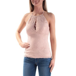 GUESS Womens New 1258 Pink Lace Spaghetti Strap Casual Top XS B+B