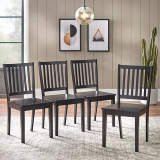 Link to Simple Living Solid Wood Slat Back Dining Chairs (Set of 4) Similar Items in Dining Room & Bar Furniture