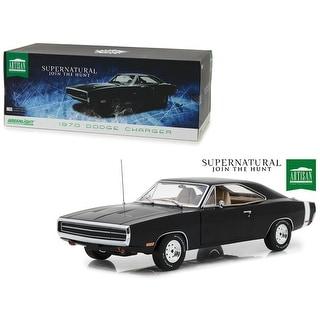 1970 Dodge Charger Black Supernatural (2005) TV Series 1/18 Diecast Model Car  by Greenlight