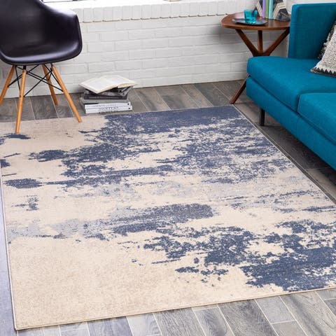 Paco Industrial Abstract Area Rug