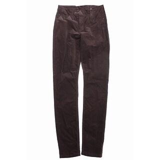 Indigo Rein Juniors Brown Skinny Five-Pocket Corduroy Pants 7