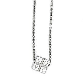 Chisel Stainless Steel Polished Love Box Necklace - 18.5 in