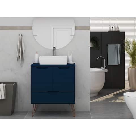 Rockefeller 26.38 Bathroom Vanity Sink 1.0 with Metal Legs