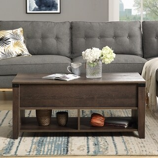 Modern Lift Top Coffee Table With Drawers And Storage Pop Up Tabletop For Living Room Overstock 33002149