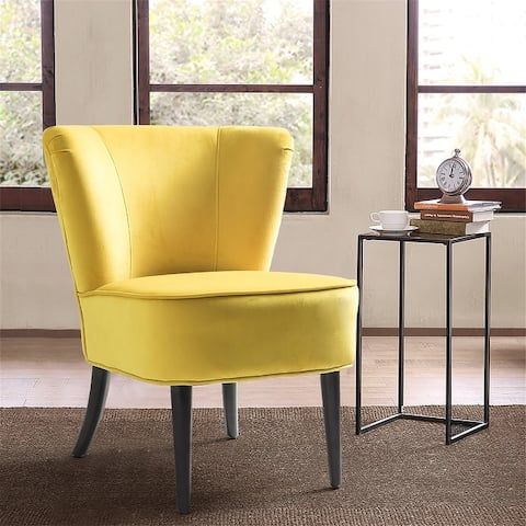 "Emille Velvet Armless Wingback Chair - 23.8""wx26""dx28.9""h"