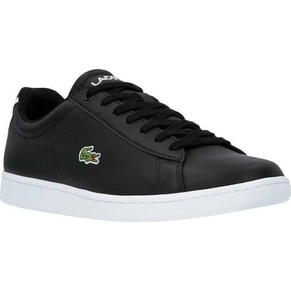 2ed0fd475 Lacoste Men  x27 s Carnaby EVO Leather Sneaker Black Leather Synthetic
