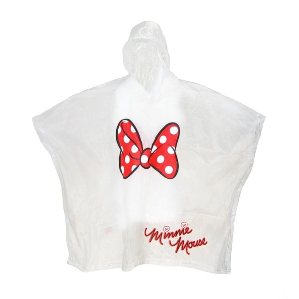 Disney Kids' Minnie Mouse Bow Clear Rain Poncho - One size