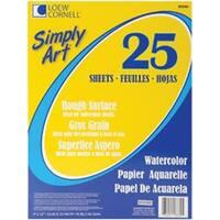 "25 Sheets - Simply Art Watercolor Paper Pad 9""X12"""