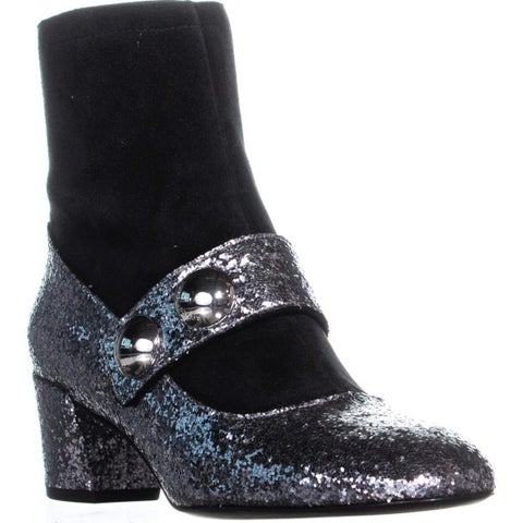 Marc Jacobs Margaux Cabochon Ankle Boots, Antique Silver