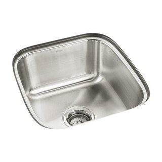 "Sterling 11448 SpringDale 16-1/4"" Single Basin Undermount Stainless Steel Bar Sink with SilentShield"