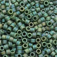 Miyuki Delica Seed Beads 11/0 Matte Opaque Avocado AB Green DB1594 7.2 Grams