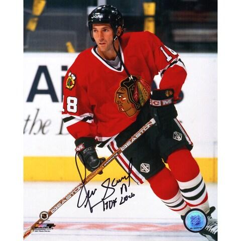 Denis Savard Chicago Blackhawks Action 8x10 Photo wHOF 2000