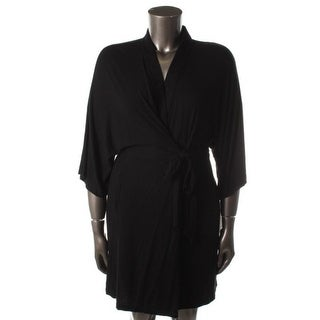 DKNY Womens Modal Wrap Short Robe