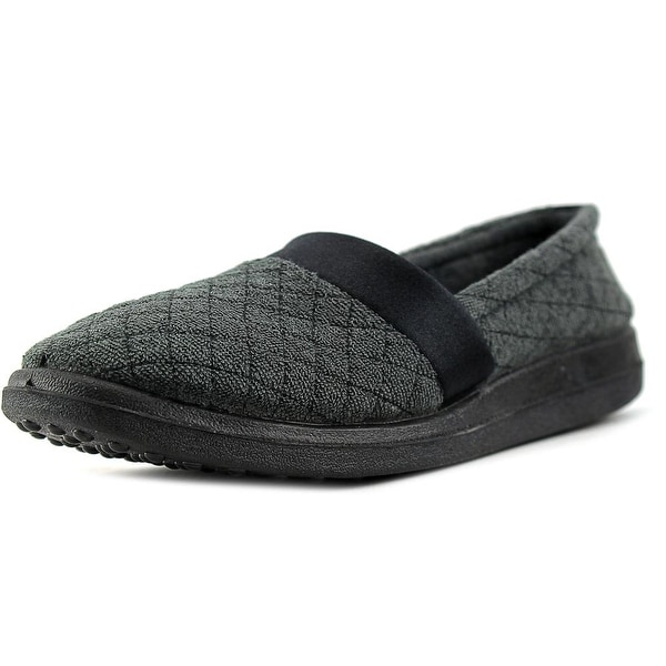 Soft-Fit Sue Women W Round Toe Synthetic Black Slipper