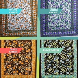 Handmade 100% Cotton Floral Print Tablecloth Tapestry Coverlet Spread Twin(70x106) Full(88x106) Queen(106x106) King(110x110)