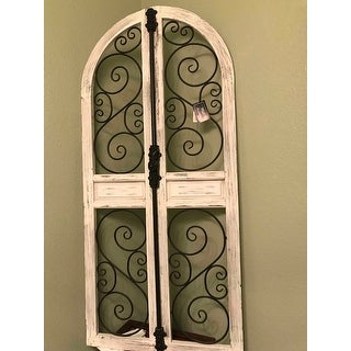 Shop Farmhouse 52 X 24 Inch Wood And Iron Door Style Wall Decor   Free  Shipping Today   Overstock.com   20445058