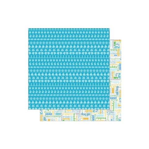 5122 doodlebug anchors aweigh paper 12x12 out to sea