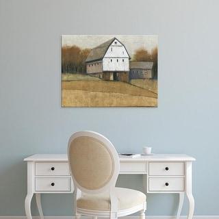 Easy Art Prints Tim OToole's 'White Barn View II' Premium Canvas Art