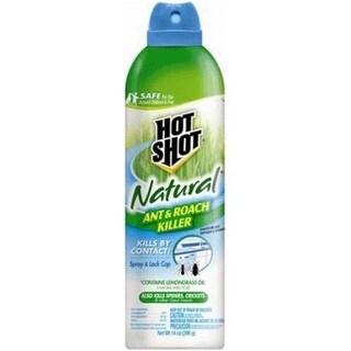 Hot Shot HG-95843 Natural Ant & Roach Killer Aerosol, 14 Oz
