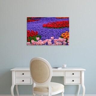Easy Art Prints Keren Su's 'Tulips In Keukenhof Gardens Ii' Premium Canvas Art