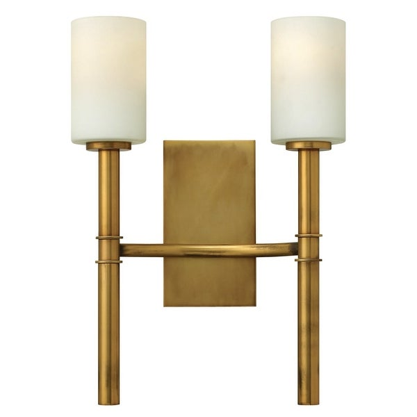 Hinkley Lighting 3582 2-Light Indoor Double Wall Sconce from the Margeaux Collection - Vintage Brass
