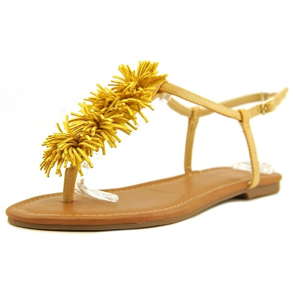 Indigo Rd. Latita Women Open-Toe Leather Yellow Slingback Sandal