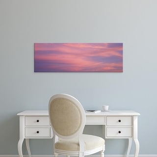 Easy Art Prints Panoramic Images's 'Clouds Sunset Marion County IL USA' Premium Canvas Art